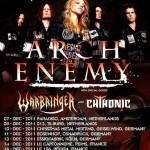 Khaos Over Europe 2011 mit Arch Enemy, Warbringer, ChthoniC, Kohatred (Garage, Saarbrücken)